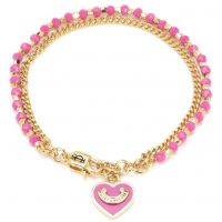 Ladies Juicy Couture PVD Gold plated Heart Bead & Chain Bracelet