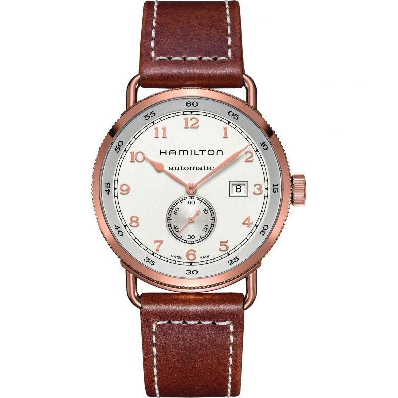 Herren Hamilton Khaky Navy Pioneer 43mm Watch H77745553