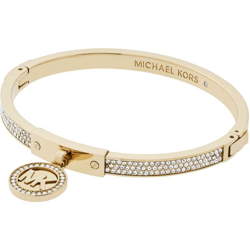 Ladies Michael Kors PVD Gold plated Hinged Bangle MKJ5976710