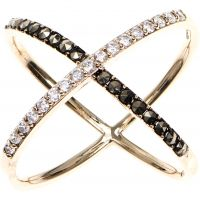 Ladies Judith Jack PVD Gold plated Ring 60371667-887