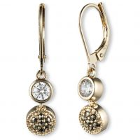Ladies Judith Jack PVD Gold plated Earrings 60341084-887