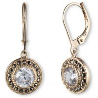 Ladies Judith Jack PVD Gold plated Earrings 60341088-887