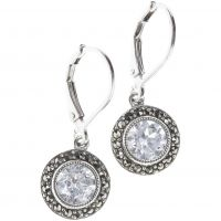 Ladies Judith Jack PVD Silver Plated Earrings 79949217-J46