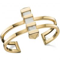 Ladies Fiorelli PVD Gold plated Marble Bar Bangle