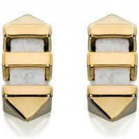 Damen Fiorelli PVD Gold überzogen meliert Bar Stud Ohrringe