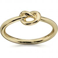 Ladies Fiorelli PVD Gold plated Knot Ring