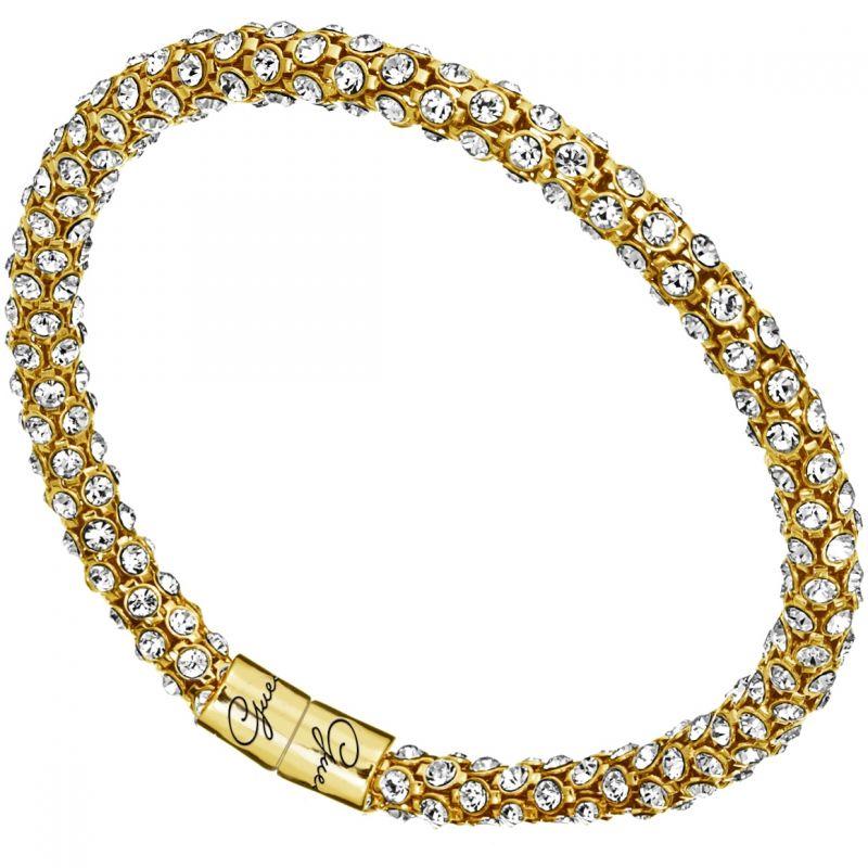 Ladies Guess Gold Plated Glamazon Crystal Bangle UBB81333