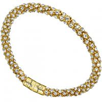 Ladies Guess Gold Plated Glamazon Crystal Bangle