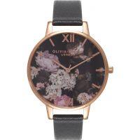 Damen Olivia Burton Winter Garten geblümt Print Uhren