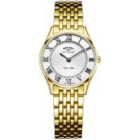 Damen Rotary Schweizer hergestellt Ultra Slim Quarz Uhr