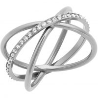 Ladies Michael Kors Stainless Steel Size P Brilliance Ring MKJ5532040508