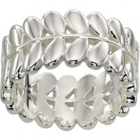 Ladies Orla Kiely Silver Plated Leaf Ring R3468/52