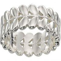 Ladies Orla Kiely Silver Plated Leaf Ring R3468/56