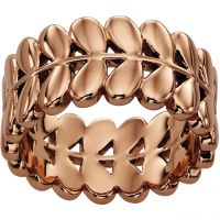 Ladies Orla Kiely Rose Gold Plated Leaf Ring