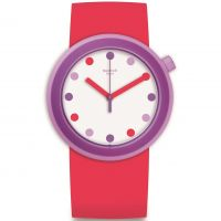 Swatch Pop-Alicious Dameshorloge Rood PNP100