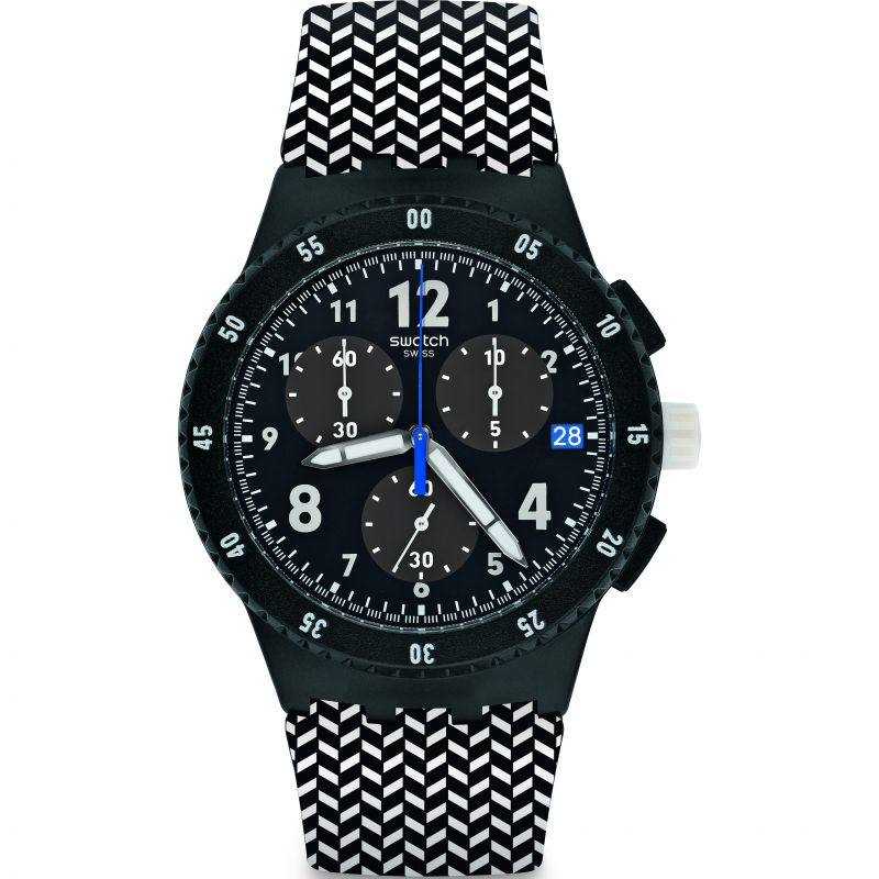 Mens Swatch Girotempo Chronograph Watch SUSB407