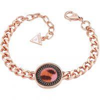 Ladies Guess Rose Gold Plated Animal Twist Bracelet UBB82003-L