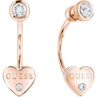 Ladies Guess Rose Gold Plated Guessy Earrings UBE82006